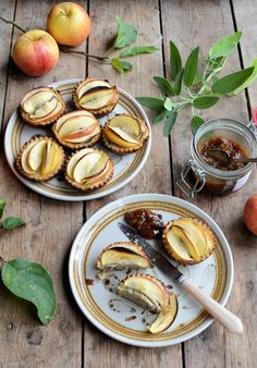 These little pies are a perfect mouth-size. Great to serve for Bonfire Night. Sausage and apple pies by Karen Burns-Booth