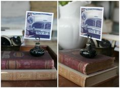 Flea Market Finds Decorating Blog Hop | Jeanne Oliver - old door knobs and heavy duty wire into display...