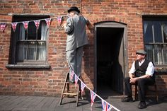 Visitor guides begin preparing the streets of the Black Country Living Museum for its Royal Wedding Street party on April 22, 2011 in Dudley, England. The popular attraction is joining the festivities across the country with a street party in traditional style to celebrate the marriage of Prince William and Catherine Middleton on April 29, 2011. Getty Images / Christopher Furlong