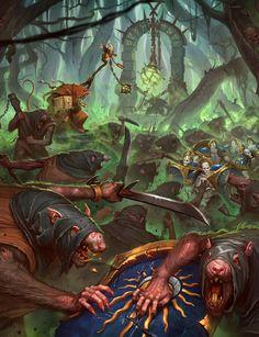 Hallowed Knights vs The Skaven