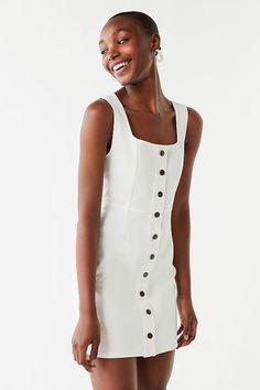 00c983eeb93457 UO Button-Down Denim Mini Dress | Urban Outfitters Urban Dresses, Urban  Outfitters,