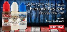 Vapor Joes - Daily Vaping Deals: MEMORIAL DAY:  VISTA VAPERS - 20% OFF - 100ML FOR ...