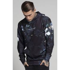 Illusive London Botanical Illusion Hoodie - Black & Cream