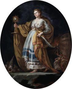 GOYA (1756-1828). Santa Bárbara Hacia 1772. Óleo sobre lienzo, 97,2 x 78,5 cm.