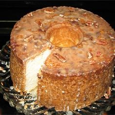 Pecan Sour Cream Cake - a rich and delicious sour cream pound cake is baked in a Bundt pan lined with chopped pecans. Pecan Sour Cream Pound Cake Recipe, Pound Cake Recipes, Pound Cakes, Cream Cake, Mini Cakes, Cupcake Cakes, Loaf Cake, Cake Flour, Savoury Cake