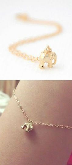 Cute Little Elephant Bracelet ♥ Makes me think of my great-grandmother who collected elephants