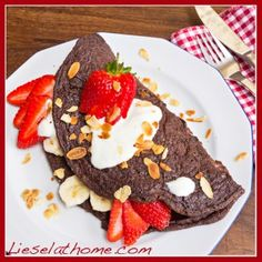 Chocolate Pancake Omelet - gluten & dairy-free (Liesel at Home)