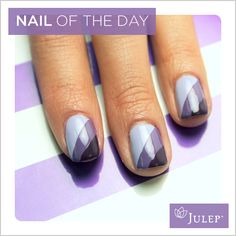 Nail of the Day: Ombre Nails. How do you add a stripe to your nail, freehand or tape?