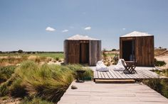 New Boutique Hotels in Portugal: Cabanas no Rio, Comporta Hotels In Portugal, Best Places In Portugal, Portugal Travel, Glamping, Sand Floor, Wanderlust, Cabins In The Woods, Travel And Leisure, Places To Go