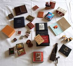 Miniature books from the collection of Jozsef Tari (the owner of the largest collection of miniature books in the world, a total of 4500 volumes)