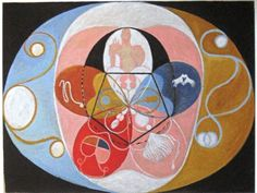 grupp VI, nr. 14. evolutionen // painting by Hilma af Klint, 1908
