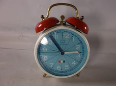 Alarm Clock Working Vintage Mid Century Modern Bradley Time Teaching Clock Small Travel Wind Up .epsteam by retroricks on Etsy