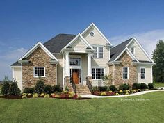 French Country House Plan with 1797 Square Feet and 3 Bedrooms from Dream Home Source | House Plan Code DHSW41885