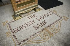 The Bowery Savings Bank tiled floor