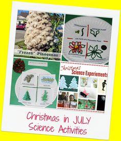 Christmas in JULY Science Activities for Preschool!