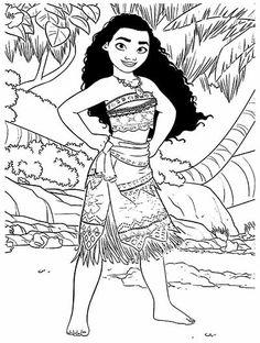 princess moana portrait coloring page  free printable coloring pages  coloring pages  disney
