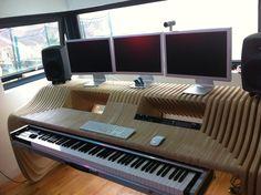 My plywood studio desk by Richard Stump Design. www.coroflot.com/richardstump