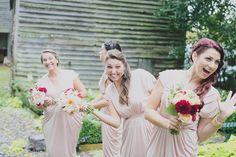 September SALE Blush pink bridesmaids gown Knee by BLUSHFASHION