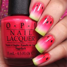 Tutorial for my watermelon nails inspired by my @livingroyal socks! @kyletta also did a super cute version of these Go check hers out! Sugar-Maroon 5 @simplenailarttips Simply Peel - Available at the link in my bio @opi_products Cajun Shrimp, Charged Up Cherry, Elephantastic Pink, and Alpine Snow @chinaglazeofficial Tree Hugger StripeRite nail art striped in black @sechenails Seche Vite from @hbbeautybar Use my code✨nailsbycambria✨ for 15% off on hbbeautybar.com!