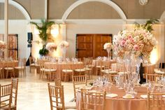 Romantic Blush and Champagne Wedding | Love Story Pictures | Luxury Linens for any Wedding Budget!