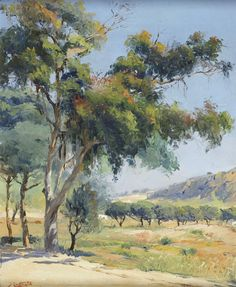 José Contente: A great painting. This is my kind of country--dry and open. Note by Roger Carrier