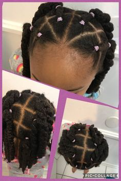 Quick Curly Hairstyles, Natural Hairstyles For Kids, Kids Braided Hairstyles, Black Baby Girl Hairstyles, Cute Toddler Hairstyles, Curly Hair Styles, Natural Hair Styles, Toddler Braids, Hair Cuffs