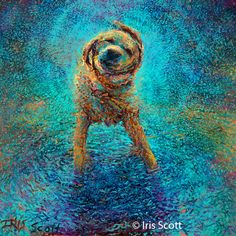 Oil finger paintings by Iris Scott