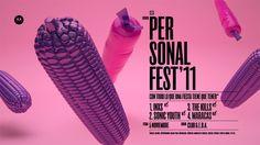 Maraca choclo metalizada  Personal Fest '11 by Plenty , via Behance