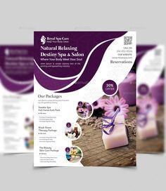 Spa flyer my saves flyer design, promotional de Spa Design, Book Design, Business Flyer, Business Card Design, Spa Menu, Free Psd Flyer Templates, Flyer Design Inspiration, Leaflet Design, Magazine Design