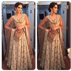 #sonamkapoor #dollykidoli #bollywoodtrends tones of Beige and White always make a great combo! Visit www.faaya.in and get this made in your favorite colors and style.