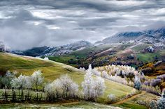 One of the year's most breathtaking travel destinations, from National Geographic's 2015 Traveler Photo Contest - Whitefrost over Pestera village in Romania by Eduard Gutescu