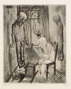 The Suicide (Der selbstmörder), Otto Dix 1922