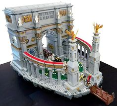 Doug Hughes built an incredibly large and awesome model of the Arch of Constantine. The model was built as part of a collaboration for Bricks Cascade, called