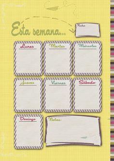 LLUVIA DE IDEAS: Descargables para organizar la semana