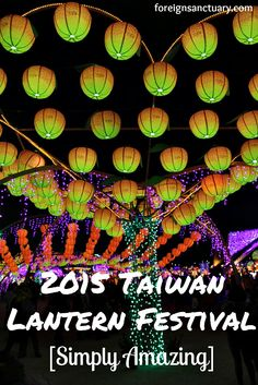 Rows of Yellow and Orange Lanterns at the Taiwan Lantern Festival -----> The 2015 Taiwan Lantern Festival [Simply Amazing] - (To view more awesome photos, click http://foreignsanctuary.com/2015/03/10/the-2015-taiwan-lantern-festival-simply-amazing/ )