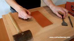 La couture cuir sellier - Video 2 - Le Griffage - www.cuirtextilecrea.com