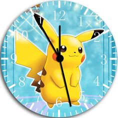 "New Pokemon Pikachu Huge X-Large size wall clock 14""  Room Decor A43 Fast shipping. $19.49, via Etsy."