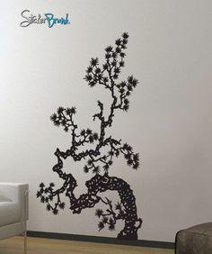 Vinyl Wall Decal Sticker Japanese Asian Flower #407: