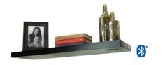 Bluetooth Music Shelf combines quality speaker sound and home decorating together. Reason Music, Wall Shelves, Shelf, Contemporary Shelving, Electronic Music, Floating Shelves, Bookends, Bluetooth, Great Gifts
