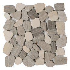 Hidden Beach Pebble Glass Mosaic Kahlua And Cream Stone Mosaic Floor Pebble Stone