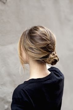 { messy braided bun } @dallasshaw