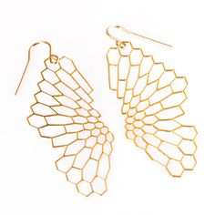 Radiolaria Earrings Gold-Filled, $40, now featured on Fab.