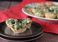 skinny mom connections content partner rachel cooks recipe for Easy Spinach Artichoke Phyllo Bites