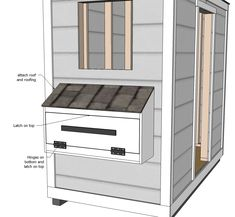 Build a Shed Chicken Coop Free and Easy DIY Project and Furniture Plans Diy Chicken Coop Plans, Backyard Chicken Coops, Building A Chicken Coop, Building A Shed, Chickens Backyard, Building Plans, Backyard Sheds, Ana White, Bathroom Vanity Storage