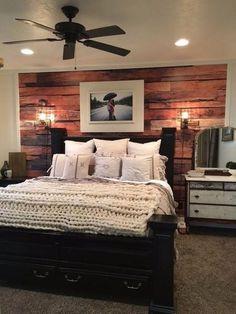 Romantic rustic farmhouse master bedroom decorating ideas (61)