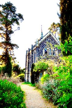 Bluestone church, Montsalvat, Melbourne