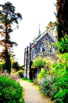 Bluestone church, Montsalvat, Melbourne