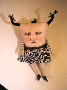weird monster doll sandy mastroniodd dollmonster Elaine art