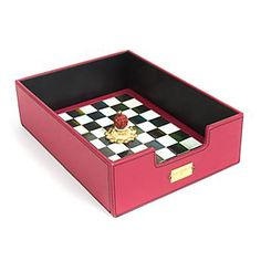 MacKenzie-Childs Courtly Check In Box, 145.00