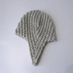 Knit Hat Pattern // Herringbone Rib Aviator Hat - pattern only - PDF. $2.50, via Etsy.